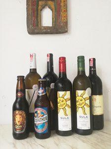 インドワインとビールの画像